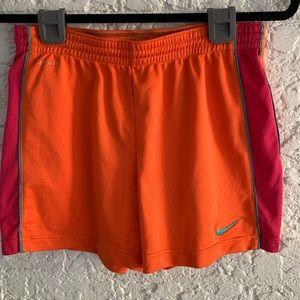 Nike orange dri fit shorts Size S